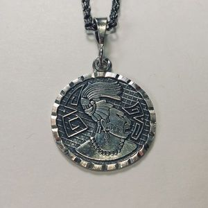 Jewelry - Mexican Sterling Silver Aztec / Mayan Necklace